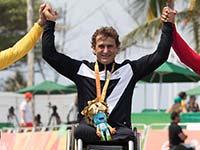 Alessandro Zanardi gewinnt bei den Paralympischen Spielen in Rio de Janeiro Gold im Einzelzeitfahren