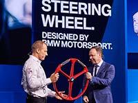 Von BMW Motorsport entwickeltes Segelrennyacht-Steuerrad auf Autoshow Detroit präsentiert.