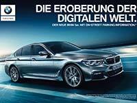 Die Eroberung der digitalen Welt: Start der Kampagne für die neue BMW 5er Limousine in Deutschland.