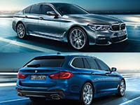 Wallpaper: BMW 5er Limousine (G30) und BMW 5er Touring (G31)