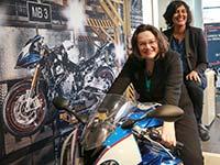 Bundesministerin Nahles besucht mit französischer Amtskollegin El Khomri das BMW Motorradwerk Berlin