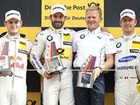 BMW feiert im Samstagsrennen in Zandvoort einen Dreifachsieg.