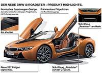 Der neue BMW i8 Roadster, das neue BMW i8 Coupé (Facelift). Highlights.