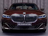 BMW 750Li (G12 LCI) in Royal Burgundy Red Brillanteffekt
