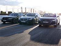 BMW M760Li tritt in mehreren Beschleunigungsrennen gegen Mercedes S63 AMG und Audi S8 an