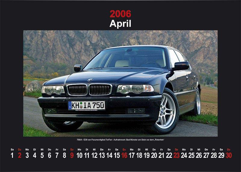 "7-forum.com Wandkalender 2006 - Motiv ""April"""