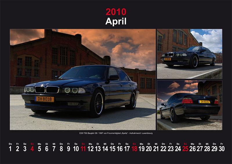 April 2010: E38 735i Baujahr 09/1997 von Forumsmitglied Speltz - Aufnahmeort: Arlon, Belgien