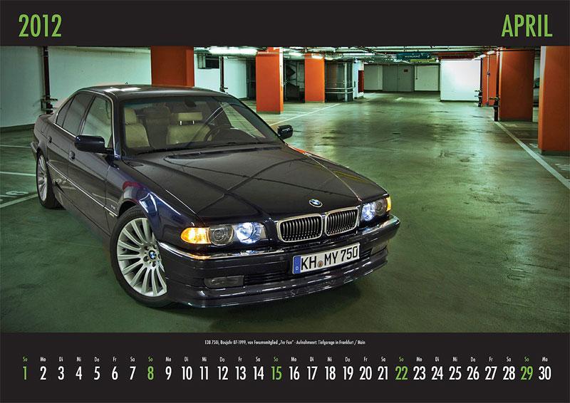 April-Motiv: E38 750i, Baujahr 07.1999, von Forumsmitglied '7er Fan' - Aufnahmeort: Tiefgarage in Frankfurt/Main