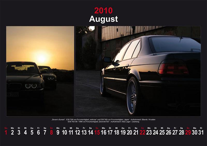 August 2010: Seven´s Sunset: E38 740i von Forumsmitglied Jippie und E38 728i von Forumsmitglied Rednose -Aufnahmeort: Sibenik / Kroatien