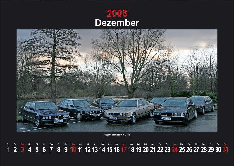"7-forum.com Wandkalender 2006 - Motiv ""Dezember"""