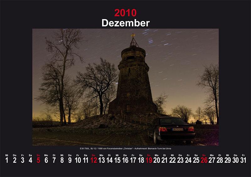 Dezember 2010: E38 750iL Baujahr 12/1998 von Forumsbetreiber Christian - Aufnahmeort: Bismarck-Turm bei Unna