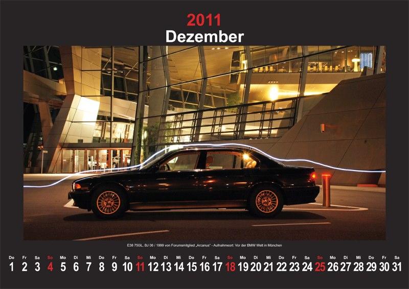 Dezember 2011: E38 750iL Baujahr 06/1999 von 'Arcanus' - Aufnahmeort: vor der BMW Welt in München