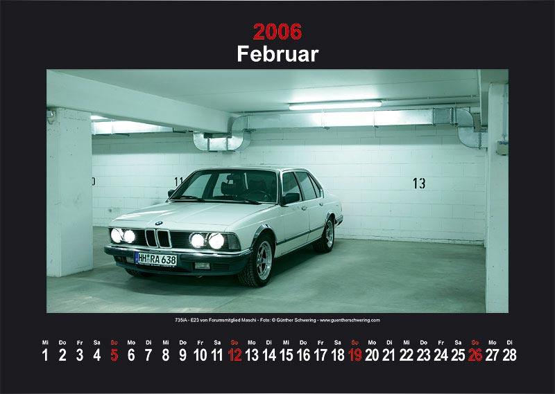 "7-forum.com Wandkalender 2006 - Motiv ""Februar"""
