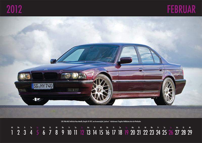 Februar-Motiv: E38-740iA M62 Individual, Baujahr 07.1997, von Forumsmitglied 'dashane' - Aufnahmeort: Flugplatz Waldlaubersheim bei Wiesbaden