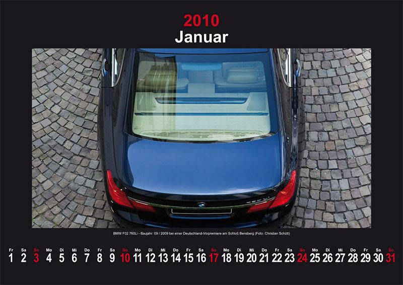 Januar 2010: BMW F01 760Li - Baujahr 09/2009 bei einer Deutschland-Vorpremiere am Schloß Bensberg