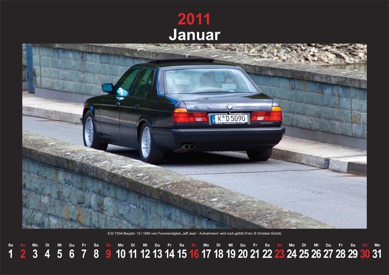 Januar 2011: E32 730iA Baujahr 10/1989 vom Forumsmitglied Jeff Jaas