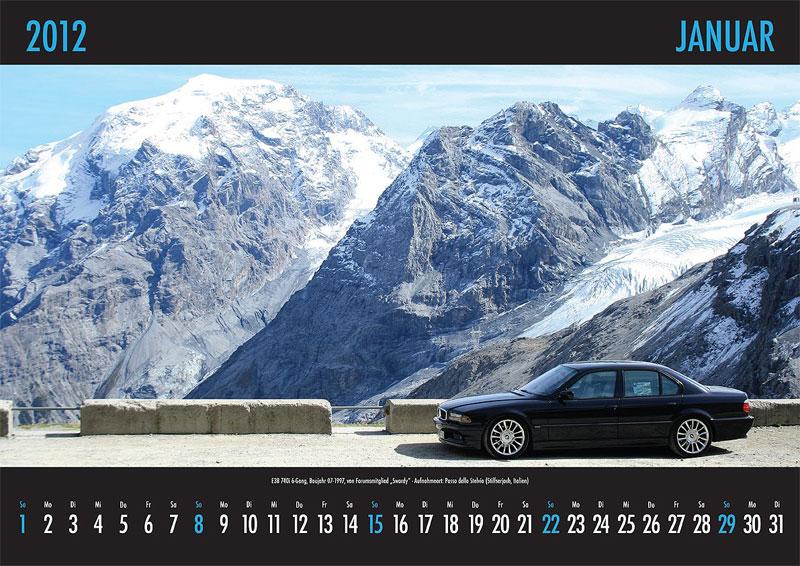 Januar-Motiv: E38-740i 6-Gang, Baujahr 07.1997, von Forumsmitglied 'Swordy' - Aufnahmeort: Stiffersjoch (Italien)