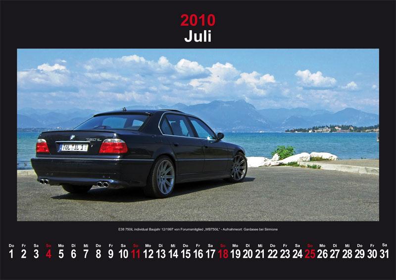 Juli 2010: E38 750iL Individual Baujahr 12/1997 - Aufnahmeort: Gardasee bei Sirmione