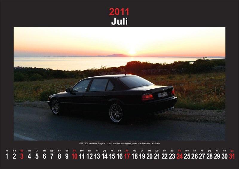 Juli 2011: E38 750iL Individual vom Forumsmitglied Baujahr 12/1997 'Horsti' - Aufnahmeort: Kroatien
