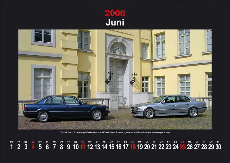 "7-forum.com Wandkalender 2006 - Motiv ""Juni"""