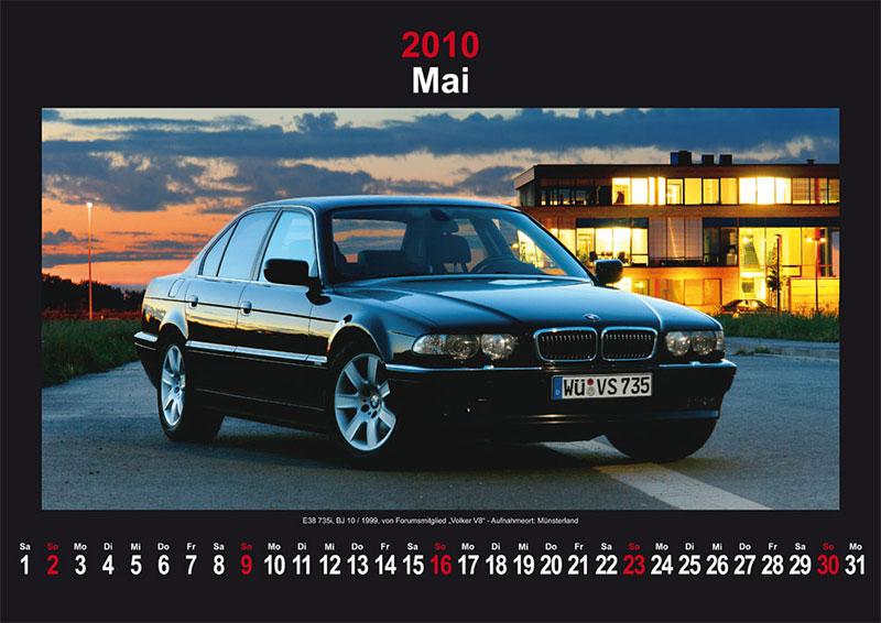 Mai 2010: E38 735i Baujahr 10/1999 von Forumsmitglied Volker V8 - Aufnahmeort: Münsterland