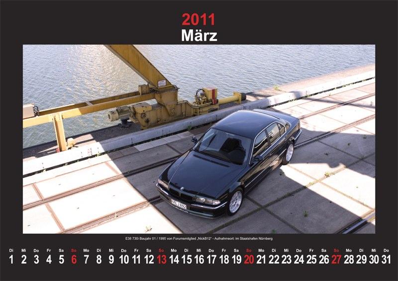 März 2011: E38 730i Baujahr 01/1995 von Forumsmitglied NickB12 - Aufnahmeort: im Staatshafen Nürnberg