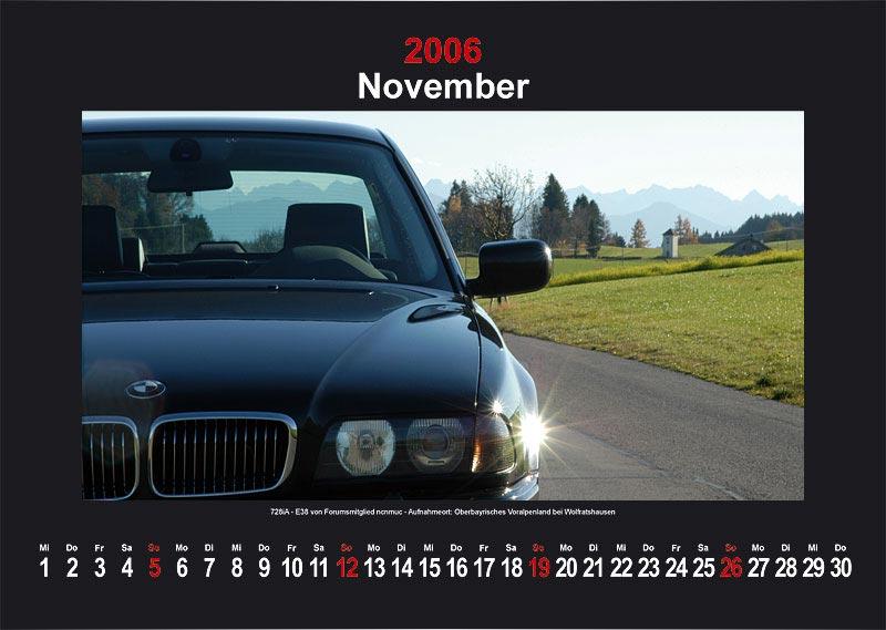 "7-forum.com Wandkalender 2006 - Motiv ""November"""