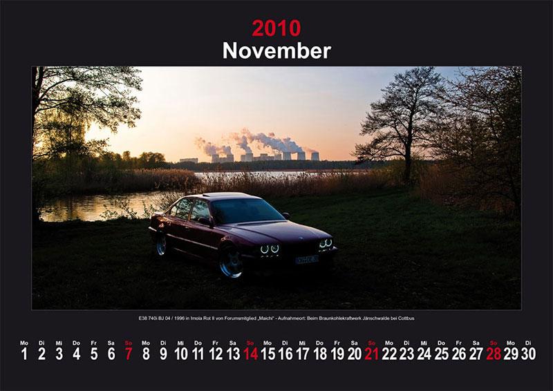 November 2010: E38 740i Baujahr 04/1996 in Imola Rot II von Forumsmitglied Maichi - Aufnahmeort: Beim Braunkohlewerk Jänschwalde bei Cottbus