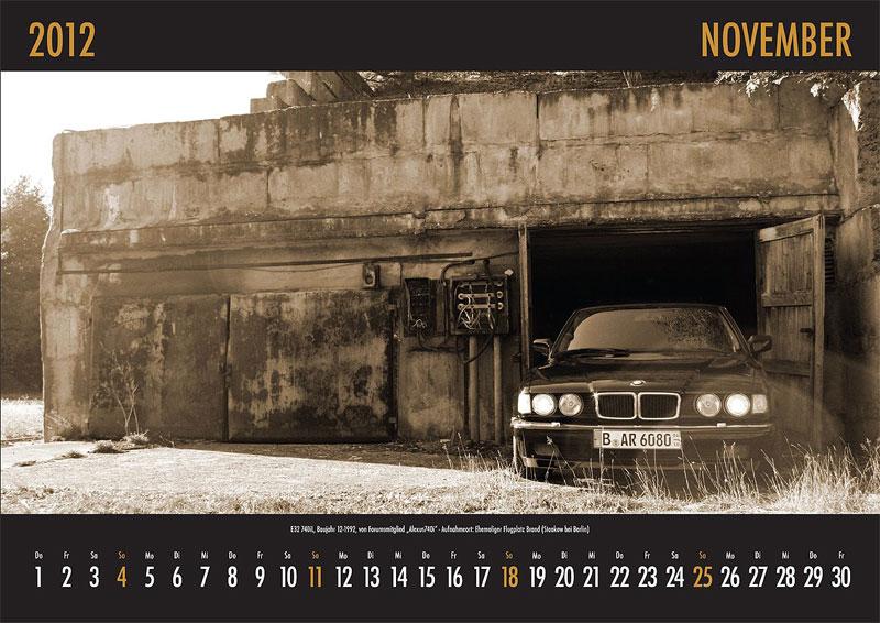 November-Motiv: E32-740i, Baujahr 12.1992, von Forumsmitgllied 'Alexus740i' - Aufnahmeort: ehemaliger Flugplatz Brand (bei Berlin)