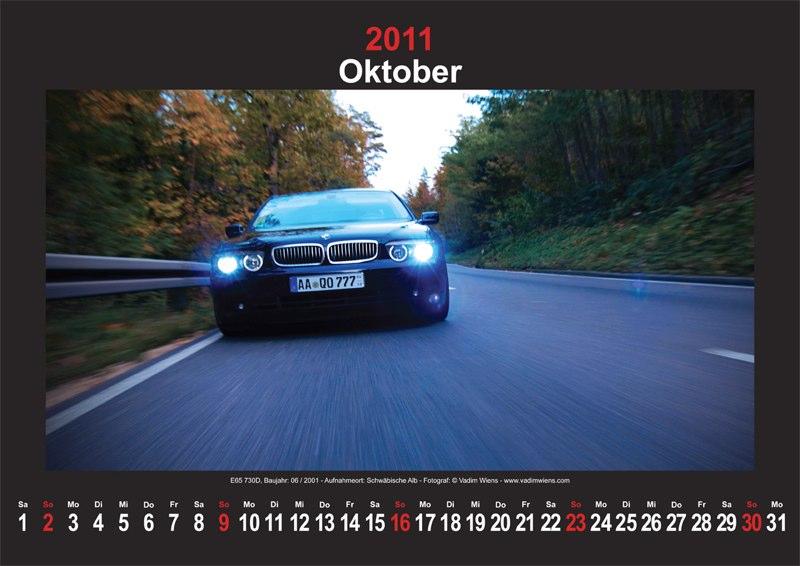 Oktober 2011: E65 745i Baujahr 03/2003 vom Forumsmitglied 'BMW-745' - Aufnahmeort: Schwäbische Alb