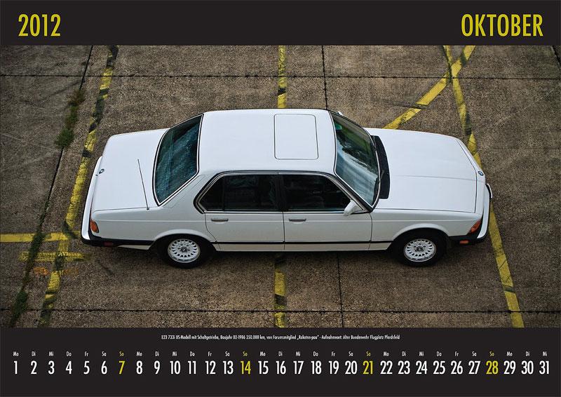 Oktober-Motiv: E23-733i US-Modell mit Schaltgetriebe, Baujahr 02.1986, 350.000 km, von Forumsmitglied 'Raketen-paa' Aufnahmeort: alter Bundeswehr Flugplatz Pferdsfeld