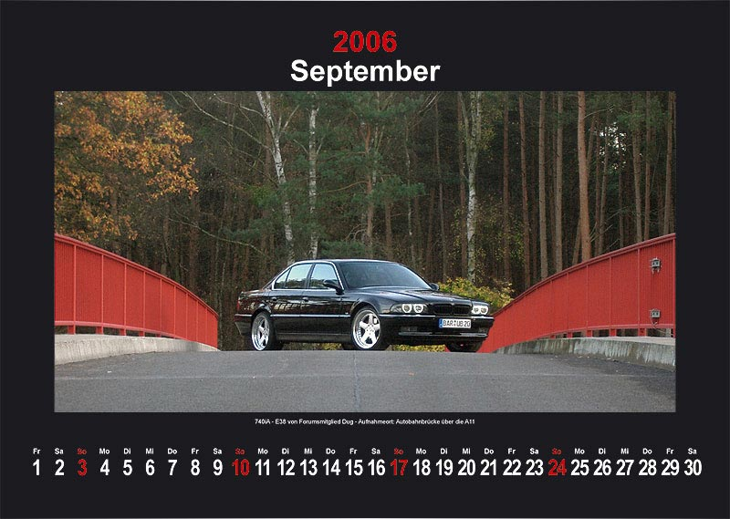 "7-forum.com Wandkalender 2006 - Motiv ""September"""