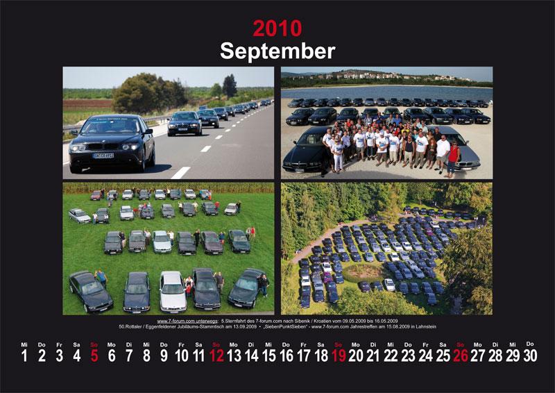 September 2010: www.7-forum.com unterwegs: 5. Sternfahrt des 7-forum.com  nach Sibenik/Kroatien vom 09.05.2009 bis 16.05.2009; 50. Rottaler / Eggenfelder Jubliäums-Stammtisch am 13.09.2009; SiebenPunkSieben - www.7-forum.com Jahrestreffen