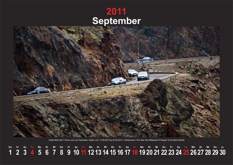 September 2011: 6. Sternfahrt des www.7-forum.com zum Gardasee/Italien vom 17.09. bis 25.09.2010, Aufnahmeort: Tour über das Stilfersjoch