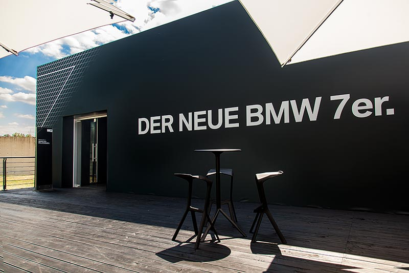 'closed room' Präsentation der neuen 7er-Generation in der Langen Foundation bei Neuss