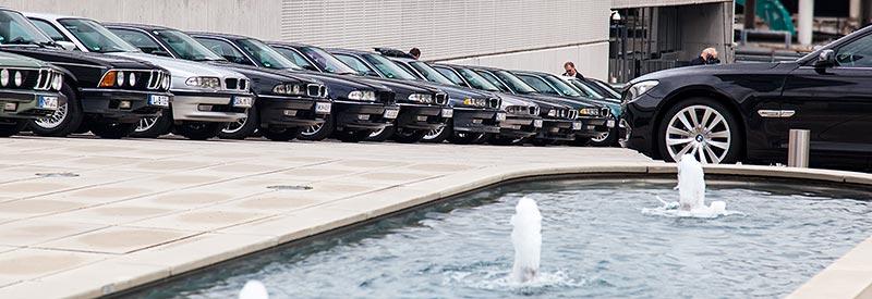 7-forum.com Jahrestreffen 2016: Springbrunnen vor der BMW Konzernzentrale.