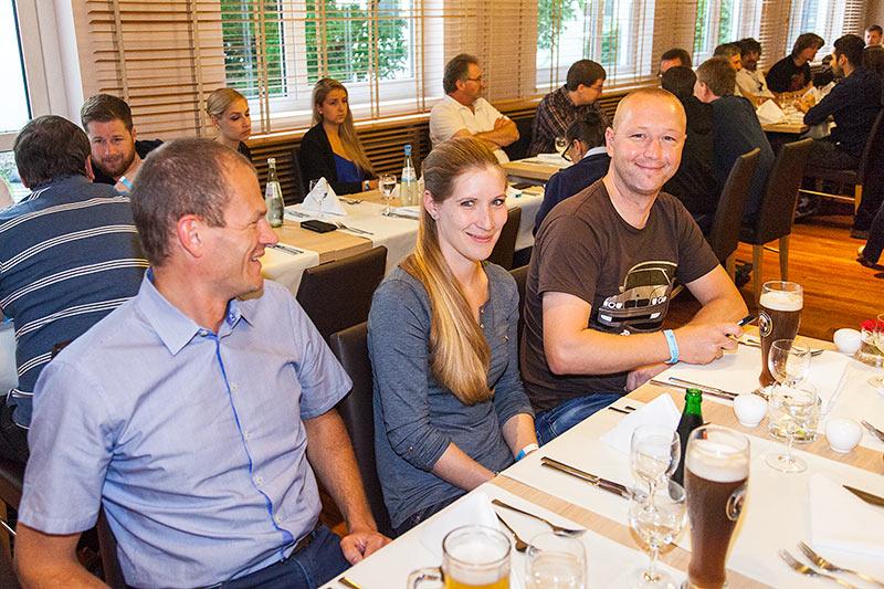 Jahrestreffen 2016: gemeinsames Abendessen im NH Messehotel