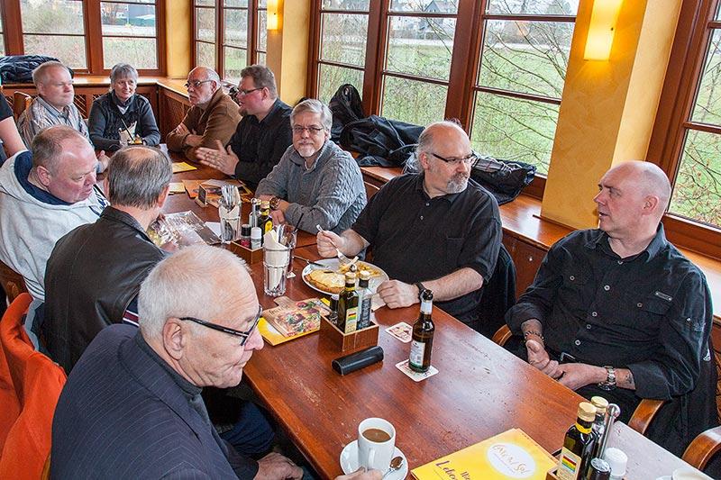 Rhein-Ruhr-Stammtisch im Januar 2017 im Café del Sol in Castrop-Rauxel
