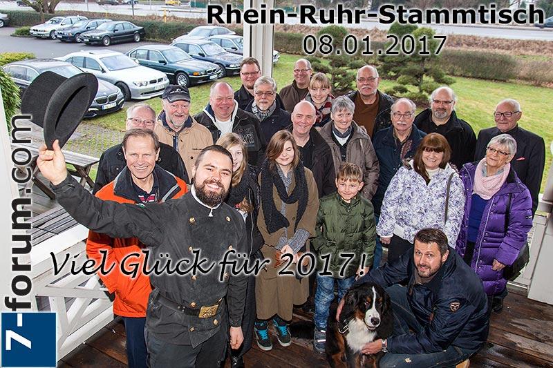 Rhein-Ruhr-Stammtisch im Januar 2017, Gruppenfoto