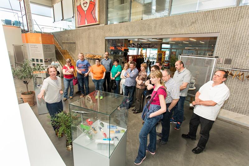 Führung mit Museums Geschäftsführerin Hildegard Knoop (ganz links im Bild)