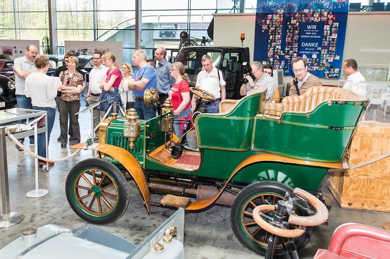 Bergmann-Systemwagen aus dem Jahr 1902, Modell D II mit Kardanantrieb und 1-Zylinder-Motor