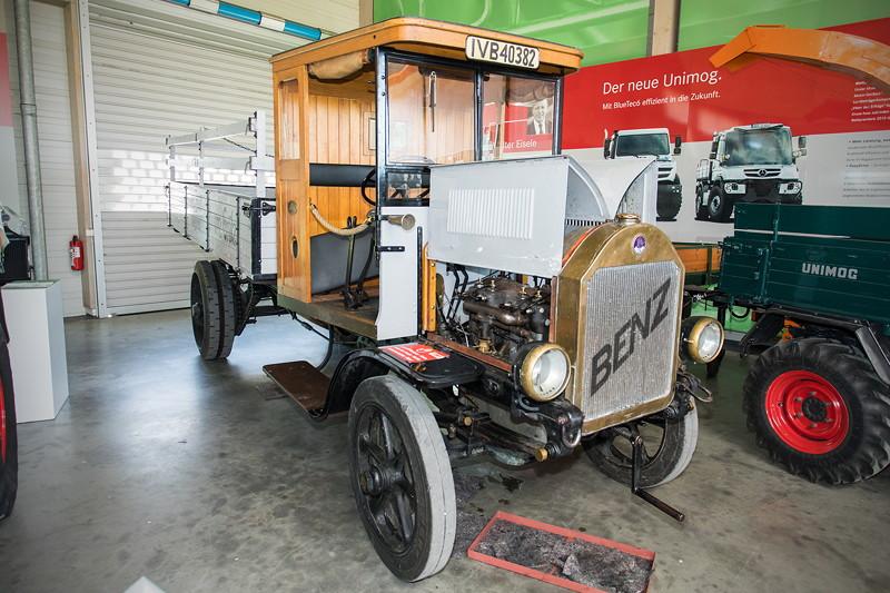 LKW vom Typ 5K2, Benz Gaggenau, wurde im ersten Weltkrieg gebaut und war noch bis in die 1950iger Jahre im Einsatz