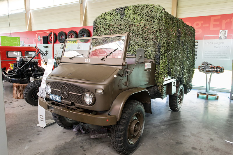 Unimog S der schweizer Armee, Baureihe 404.1, Baujahr: 1962, 2.195 ccm Hubraum, 85 PS