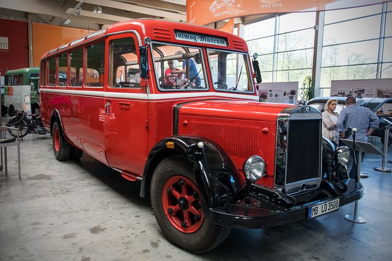 Mercedes-Benz Omnibus Lo 3500, Baujahr: 1936, Gewicht: 6.590 kg, 21 Sitzplätze, 7.360 ccm Hubraum, 95 PS, 90 km/h