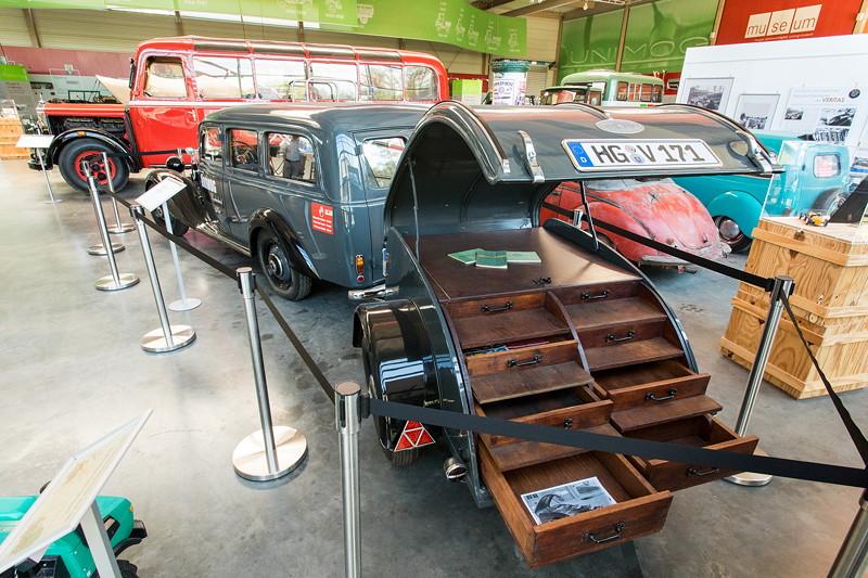 Mercedes-Benz 170 D Lieferwagen mit Werkstatt Anhänger, Baujahr: 1952, Hubraum: 1.767 ccm, 43 PS, 100 km/h