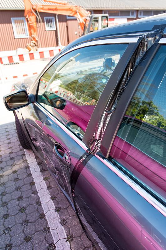 BMW 745i (E65) mit Unfallschaden von Peter ('peterpaul') beim Schabenstammtisch