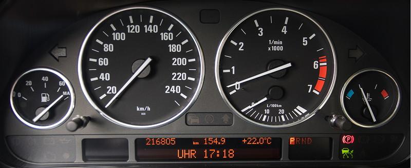 BMW 740i (E38) Individual von Frank ('heliman4'), Tacho-Instrumente