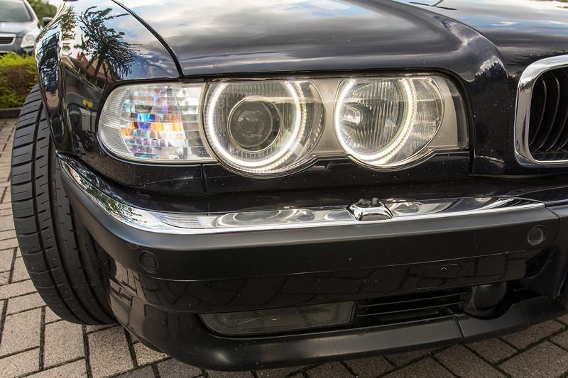 BMW 740i (E38) Individual von Frank ('heliman4') mit nachgerüsteten 'AngelEyes' und blitztende LED Nebelscheinwerfer