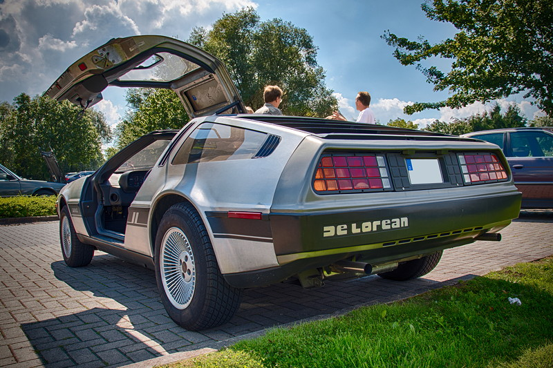 Rhein-Ruhr-Stammtisch im August 2017: DeLorean DMC-12, einst bekannt geworden durch die Film-Trilogie 'Zurück in die Zukunft'