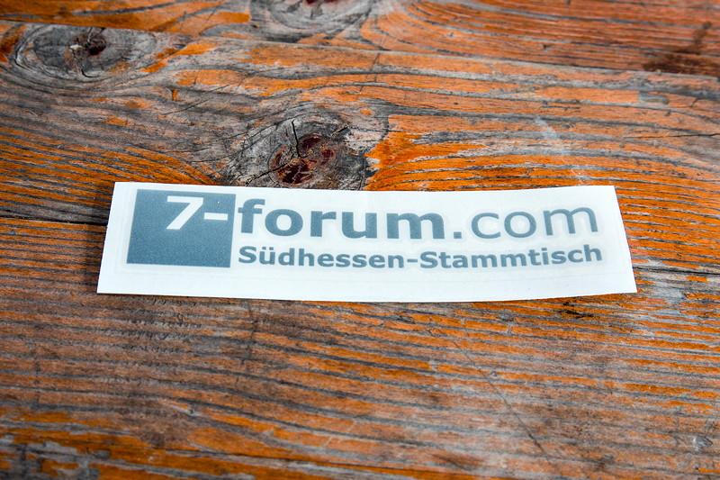 77. Südhessen-Stammtisch, Folienaufkleber fürs Auto